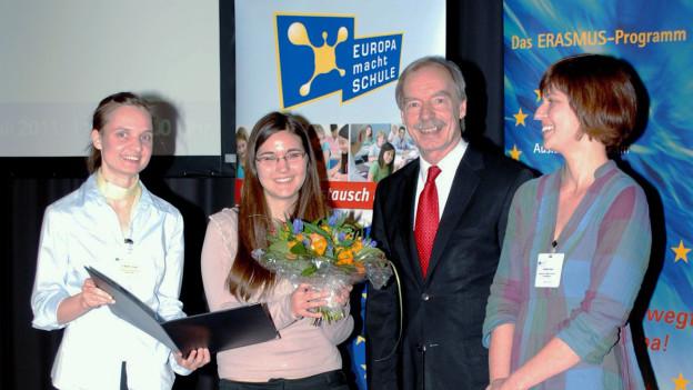 """""""Europa macht Schule"""" ehrt 500. Gaststudentin"""