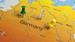 Ausschnitt einer Deutschlandkarte mit 3 Pins
