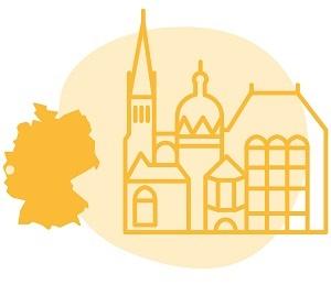 Illustrierung der Stadt Aachen