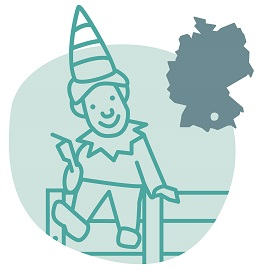 Illustrierung der Stadt Augsburg