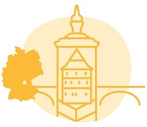 Illustrierung der Stadt Bamberg