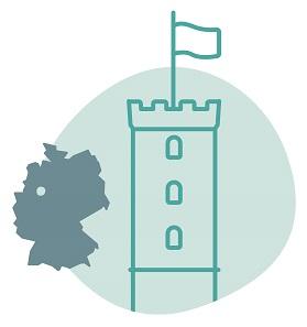 Illustrierung der Stadt Bielefeld