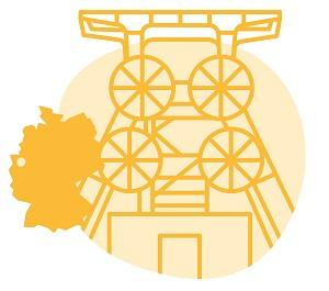 Illustrierung der Stadt Essen