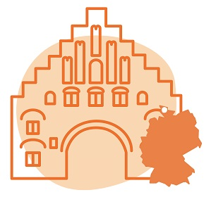 Illustrierung der Stadt Flensbrug