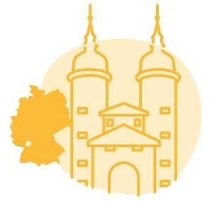 Illustrierung der Stadt Heidelberg