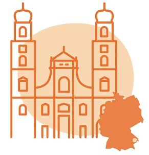 Illustrierung der Stadt Passau