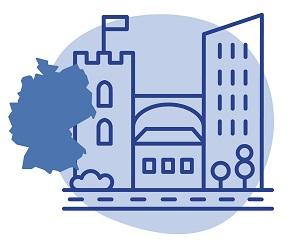 Illustrierung einer deutschen Stadt