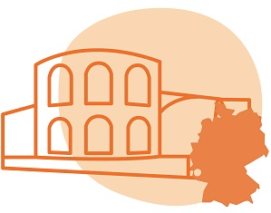 Illustrierung der Stadt Trier