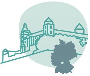 Illustrierung der Stadt Würzburg