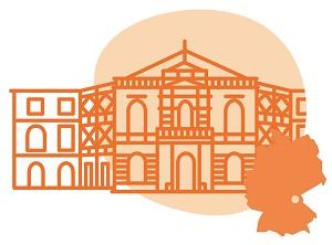 Illustrierung der Stadt Bayreuth