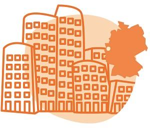 Illustration der Stadt Düsseldorf