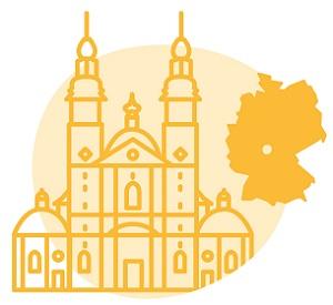 Illustration der Stadt Fulda