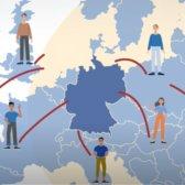 europäische Gaststudierende auf ihrem Weg nach Deutschland