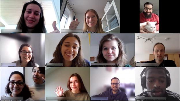Ein Screenshot mit allen Gaststudierenden, die am Wochenende an der pädagogisch-interkulturellen Schulung teilgenommen haben