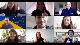 Ein Screenshot von allen Teilnehmenden des Vorstandstreffens