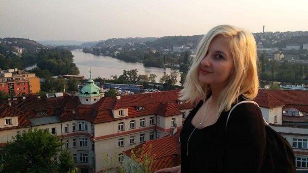 Porträtfoto einer tschechischen Gaststudierenden