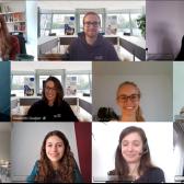 Screenshot einer Videokonferenz mit 12 jungen Erwachsenen